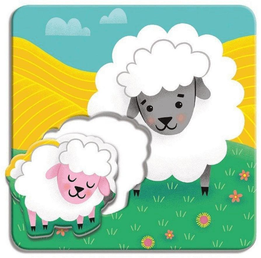 Pierwsze puzzle I Love You Rodzice i dzieci Farma 1-3 l - Mudpuppy