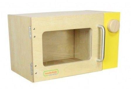 MASTERKIDZ Drewniana Mikrofalówka dla dzieci