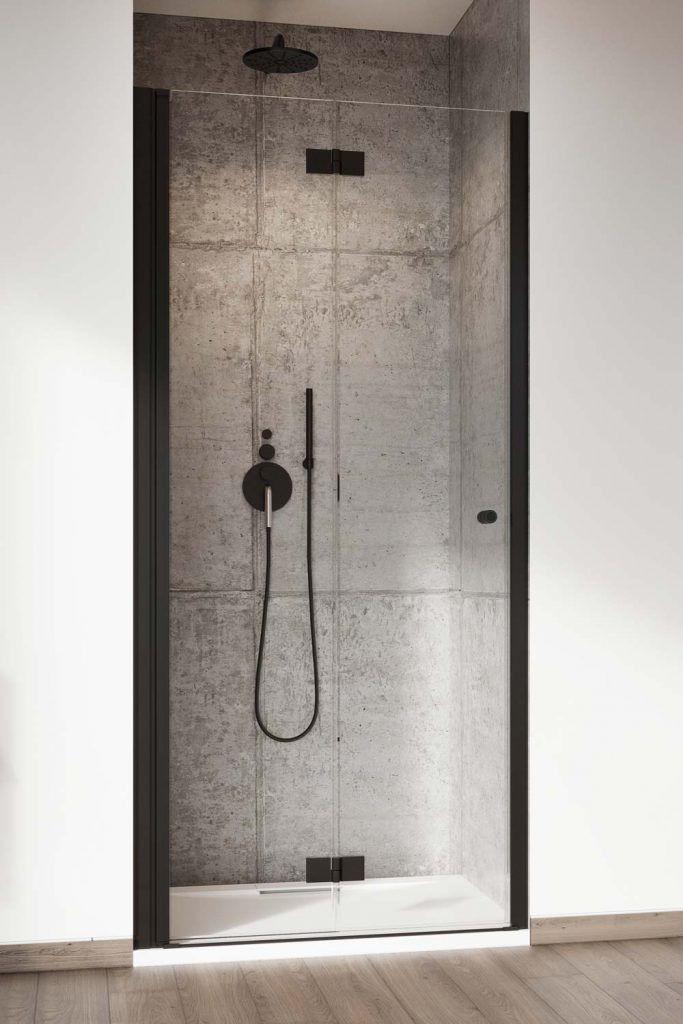Drzwi prysznicowe 80 LEWE Nes 8 DWB Black Radaway (10079080-54-01L)