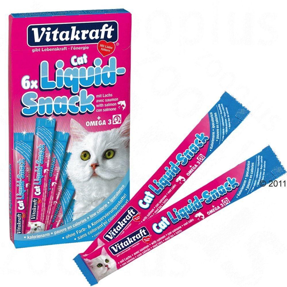Vitakraft Cat Liquid Snack Łosoś i Omega3 6x15g