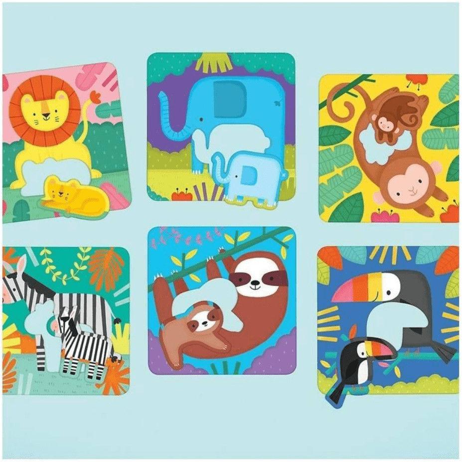 Pierwsze puzzle I Love You Rodzice i dzieci Dżungla 1- 3 l Mudpuppy