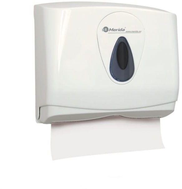 Pojemnik na pojedyncze ręczniki papierowe Merida Top Mini, okienko szare