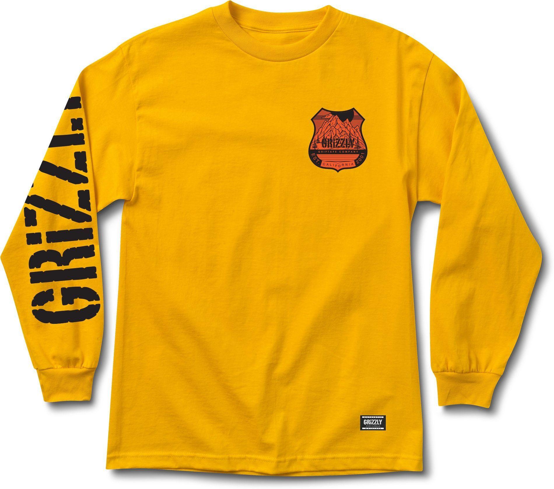 t-shirt męski GRIZZLY 10.000 FEET LS TEE Gold