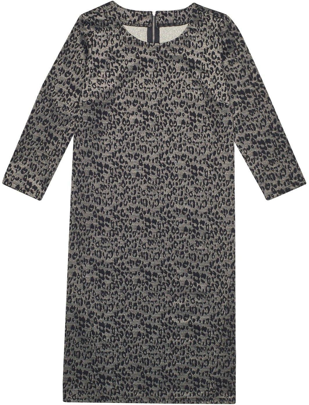Sukienka w cętki z metaliczną nitką