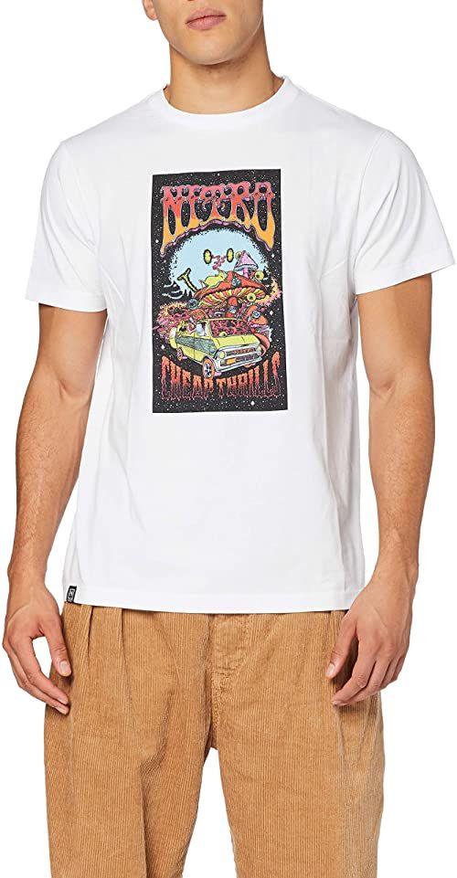 Nitro Dorośli Future Tee''20 T-shirt, biały, M