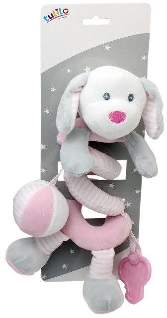 Sprężynka pluszowa New Baby Piesek biały 30 cm