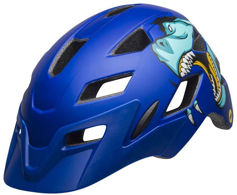 BELL SIDETRACK kask dziecięcy t-rex matte blue Rozmiar: 47-54,sidetracktrexblue