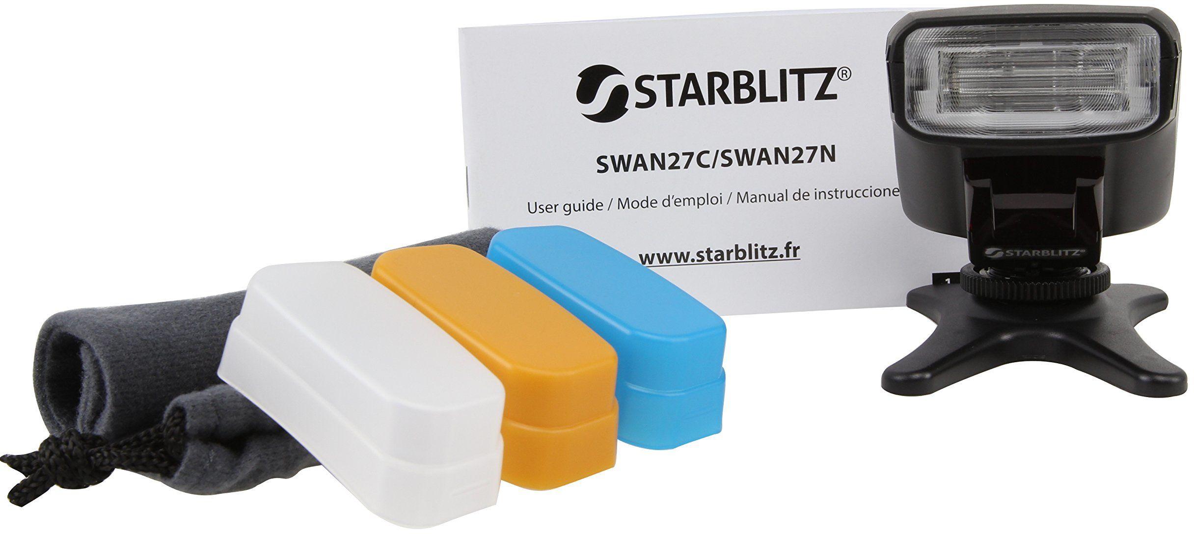Starblitz swan27 N Flash Speedlite poradnik do Nikona 27, poradnik (może nie być dostępny w języku polskim), czarny