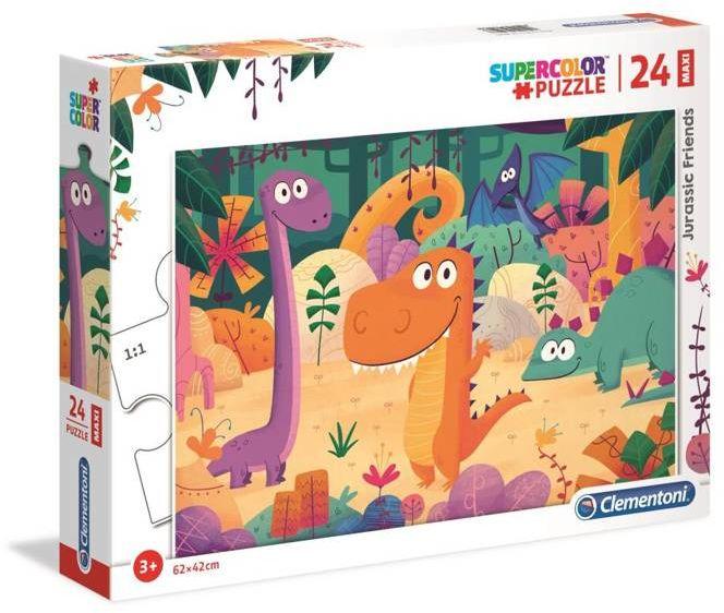 Puzzle 24 maxi super kolor Dinozaury 28506 - Clementoni