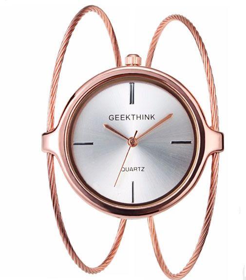 Subtelny zegarek Geekthink - rose gold