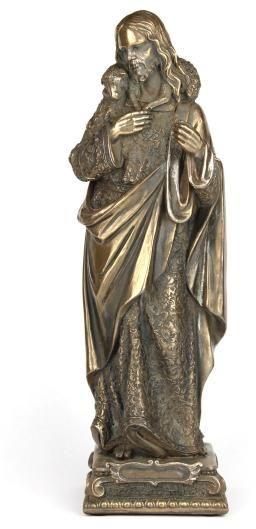 Figurka Jezus Chrystus z barankiem