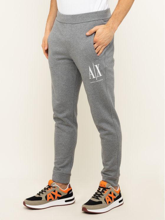 Armani Exchange Spodnie dresowe 8NZPPA ZJ1ZZ 3930 Szary Regular Fit