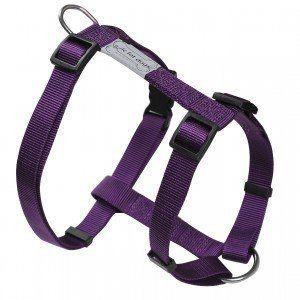 Wouapy Wouapy Basic Line uprząż dla psa, fioletowa uprząż o szerokości 25 mm do klatki piersiowej 63/97 cm