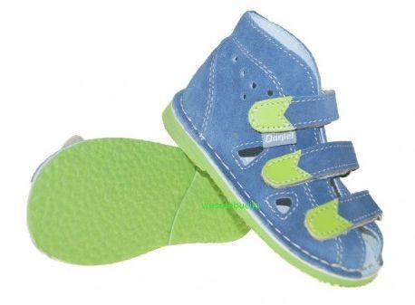 Daniel kapcie sandały profilaktyczne jeans zielony/ zielony/ styrogum