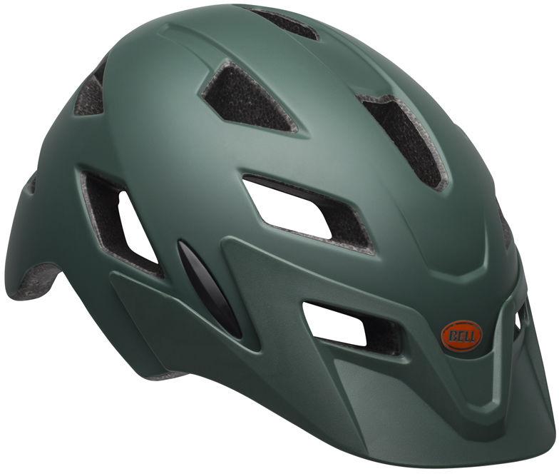 BELL SIDETRACK kask dziecięcy matte dark green orange Rozmiar: 50-57,sidetrackdarkgreenorange