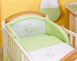 MAMO-TATO pościel 2-el Miś na księżycu w zieleni do łóżeczka 60x120cm