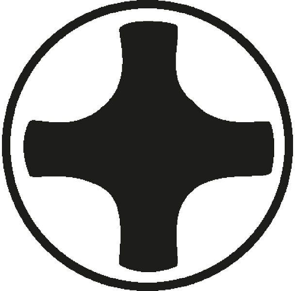 wkrętak krzyżowy izolowany do śrub Philips, rozmiar PH2, VDE ERGO Bahco [BE-8620S]
