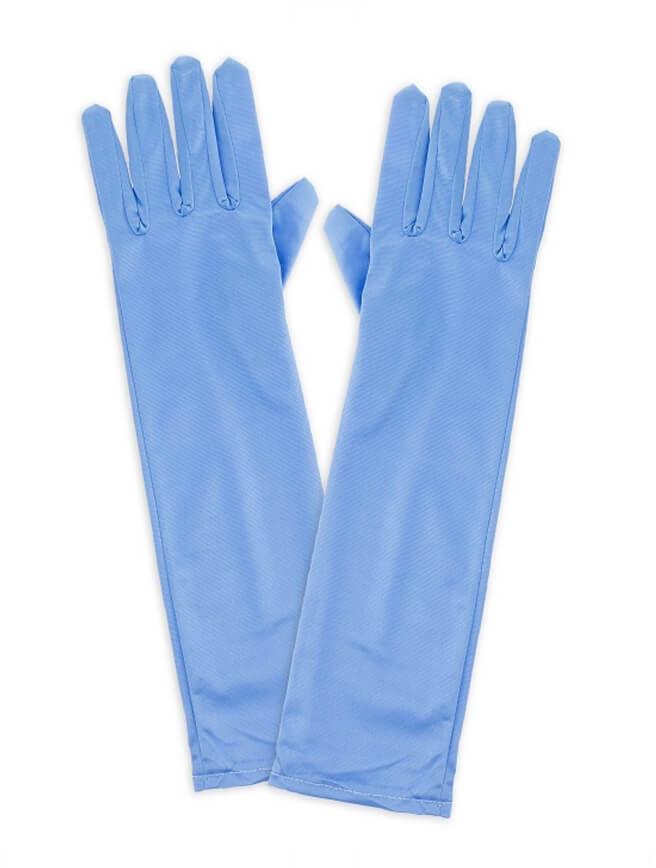 Rękawiczki Śnieżna Królowa błękitne - 38 cm.