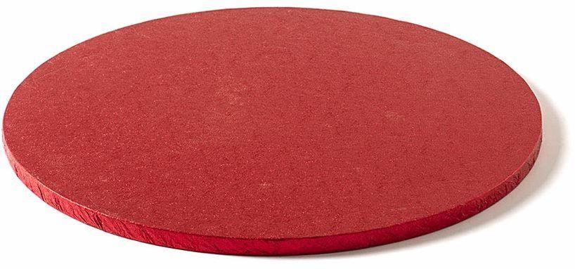 Decora 0931954 okrągła podkładka na tort czerwona CM 30X1,2 H