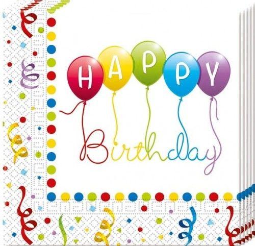 "Serwetki papierowe ""Balonowe Happy Birthday"""