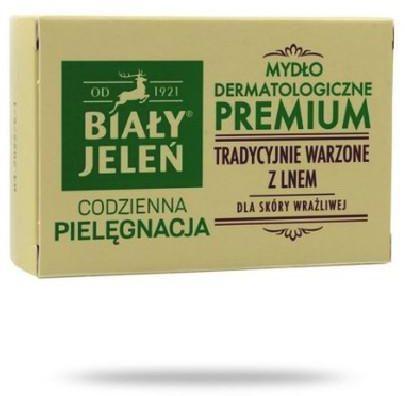 Biały Jeleń mydło dermatologiczne Premium z lnem 100 g