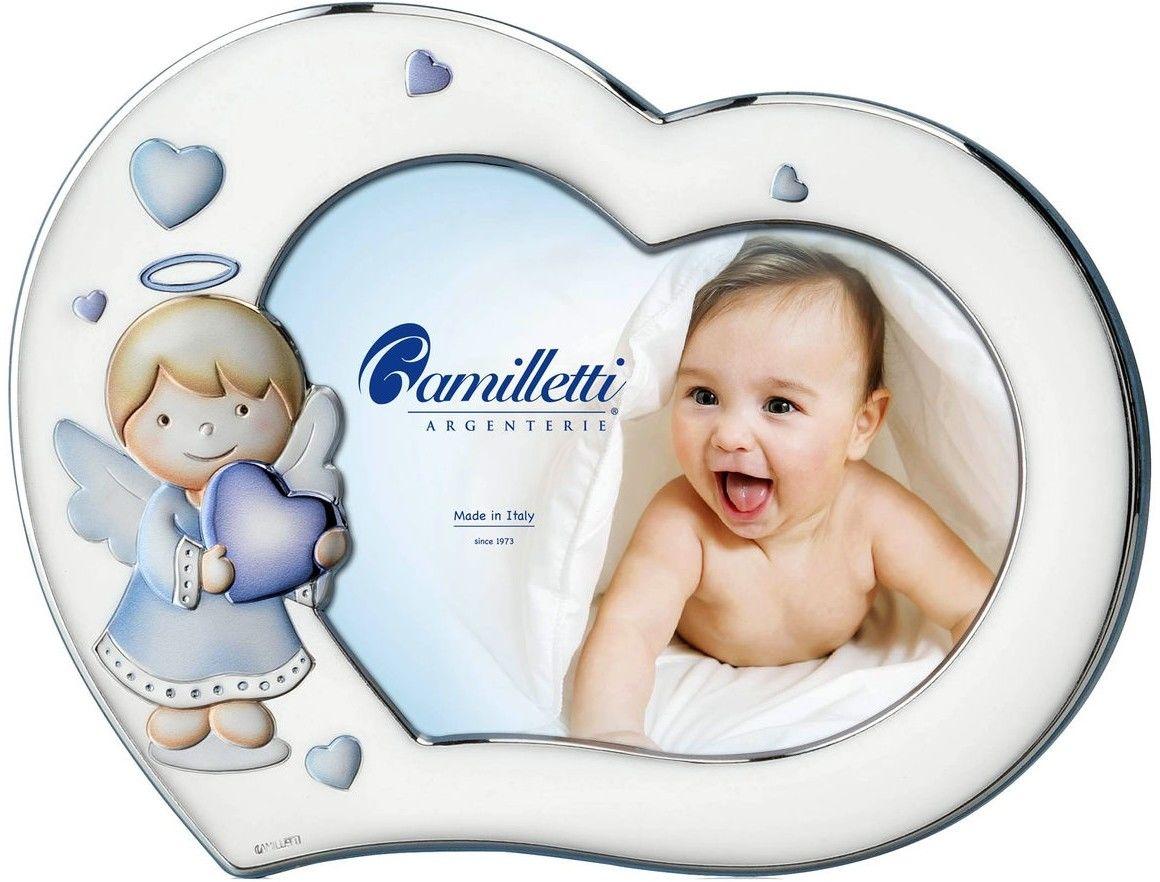 Ramka dziecięca serce z Aniołkiem Rozmiar: 13x18 cm Kolor: Niebieski SKU: CM185494