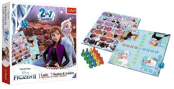 Chińczyk / Węże i drabiny Frozen 2 gra 02068 Trefl ZAKŁADKA DO KSIĄŻEK GRATIS DO KAŻDEGO ZAMÓWIENIA