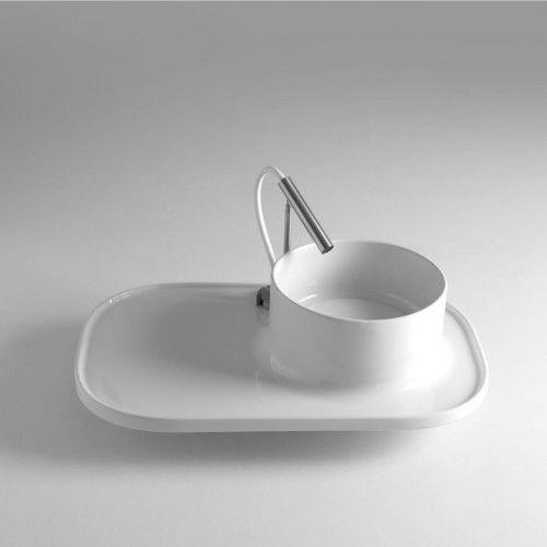 Umywalka z blatem UP 70x45x16 cm,BLEU PROVENCE