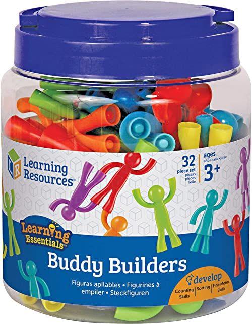 Learning Resources LER1081 Buddy Builders, wielokolorowe