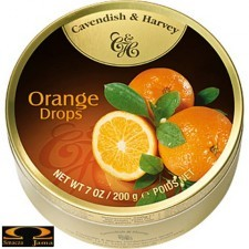Landrynki Cavendish & Harvey o smaku pomarańczowym 200g