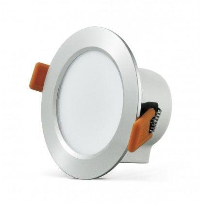 Oprawa podtynkowa 7W LED VENUS 470 lumenów srebrny połysk 3592 POLUX/SANICO
