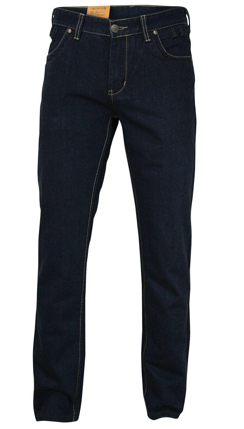 Granatowe Męskie Spodnie Casualowe -CHIAO- Bawełniane, Jeansy, Przecierane SPCHIAO18M02NZ