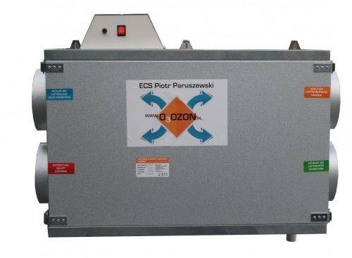 Centrala wentylacyjna 350m3/h Rekuperator + Jonizator + Sterownik, Przeciwprądowy