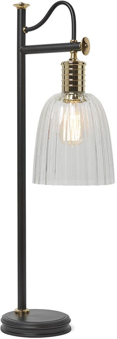 Lampa stołowa Douille TL BPB Elstead Lighting nowoczesna oprawa w kolorze czarno-mosiężnym