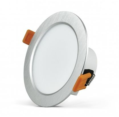 Oprawa podtynkowa 12W LED VENUS 810 lumenów srebrny szczotkowany 3646 POLUX/SANICO