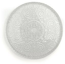 Excelsa Arabesque A półmisek do serwowania, szkło, przezroczysty, 31 x 31 x 1 cm
