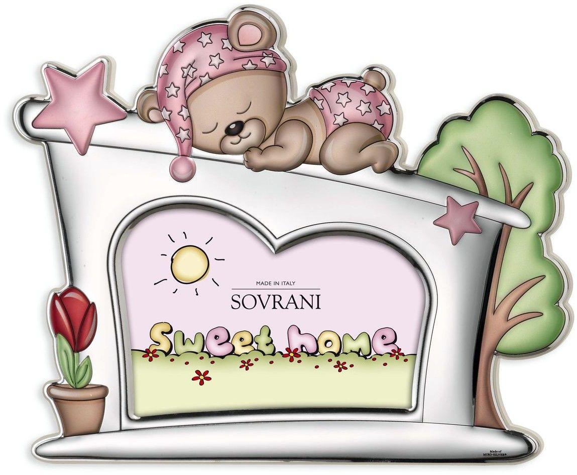 Ramka na zdjęcie śpiący miś Rozmiar: 10x15 cm Kolor: Różowy SKU: W5193R