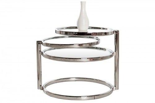 Stolik rozkładany Art Deco 3 chrom