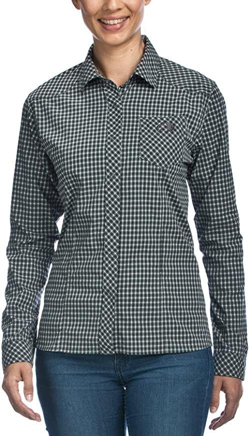 Tatonka Damska bluzka Camden W''s Long Sleeve Shirt, Carbon, 38, M383