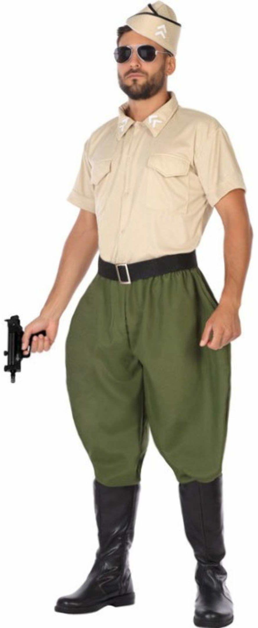 Atosa 54767 kostium żołnierz Ii Www człowiek M-L zielony karnawał, mężczyźni