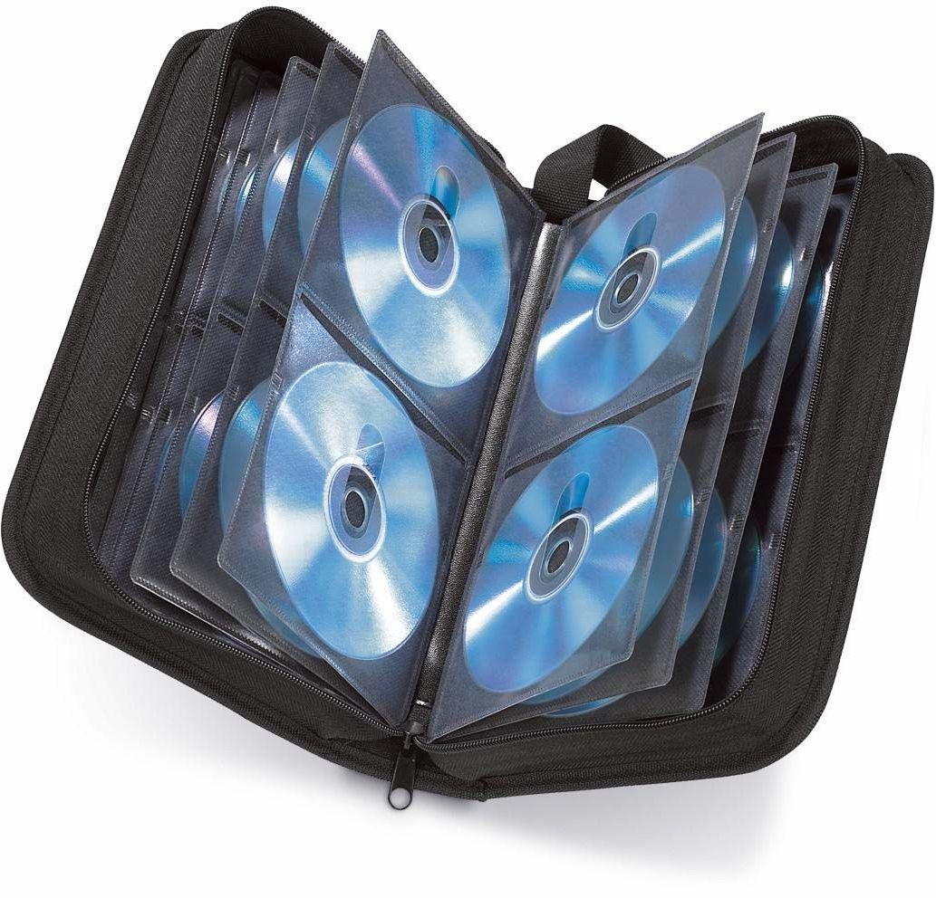 Hama Etui na płyty CD na 120 dysków/CD/DVD/Blu-ray (teczka do przechowywania, zajmuje mało miejsca w biurze, salonie i domu, etui transportowe) czarne