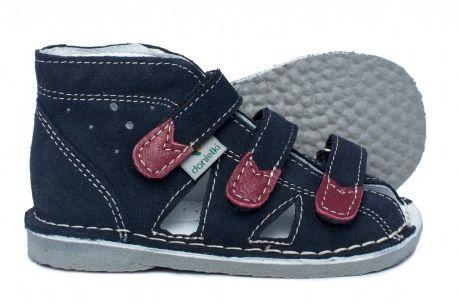 Danielki sandały kapcie profilaktyczne WZ S 104/114 dla dzieci - granat