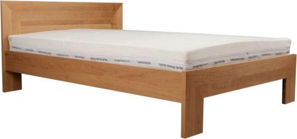 Łóżko LUND EKODOM drewniane, Rozmiar: 100x200, Kolor wybarwienia: Wiśnia, Szuflada: Cała długość łóżka Darmowa dostawa, Wiele produktów dostępnych od ręki!