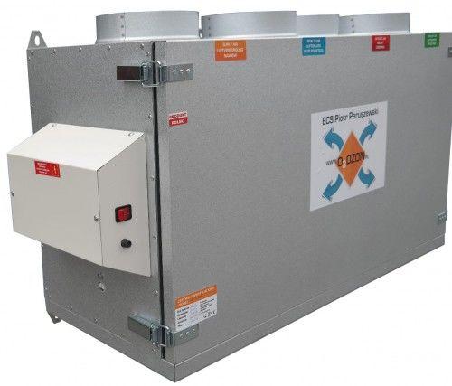 Centrala wentylacyjna A-300 jon16 Rekuperator + Jonizator + Sterownik, Przeciwprądowy