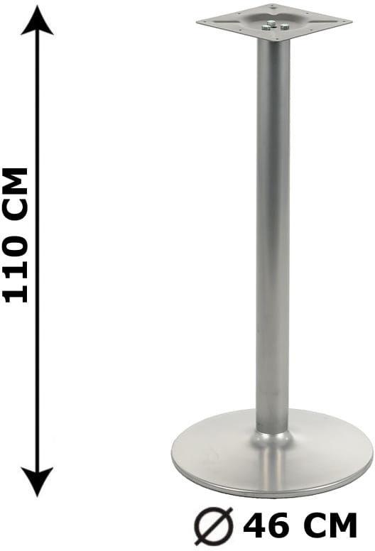 Podstawa stolika NY-B006, wysokość 110 cm, aluminium