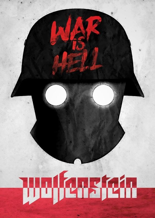 Old world propaganda - wolfenstein - plakat wymiar do wyboru: 30x40 cm