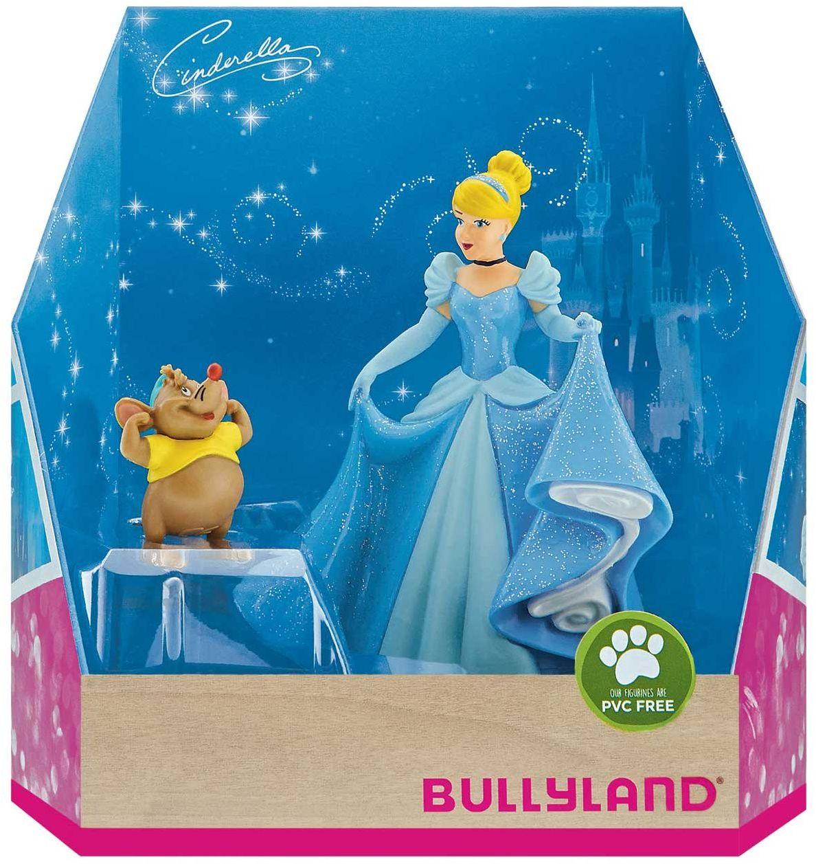 Bullyland 13438  zestaw figurek do zabawy, Walt Disney Cinderella  Cinderella i Karli, starannie ręcznie malowane figurki, bez PCW, wspaniały prezent dla chłopców i dziewczynek do zabawy