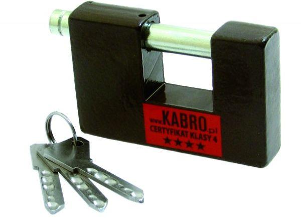 Kłódka KABRO C4 z certyfikatem 4 klasy