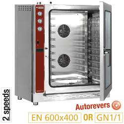 Piec konwekcyjny elektryczny 12x EN (GN) automatyczny nawilżacz 16900 W 400-230V 947x791x(H)1185mm