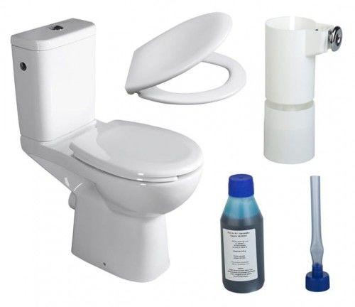 WC kompakt RIMLESS dla niepełnosprawnych CLEAN ON z deską Soft Close tylny odpływ + Dozownik z płynem